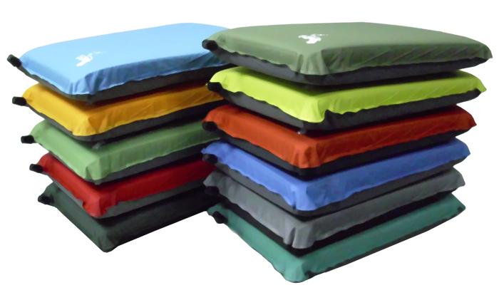 【露營趣】中和 Foam-Tex PI-102 規則型自動充氣枕頭 充氣枕 露營枕頭 可壓縮 顏色隨機