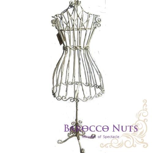 【Barocco Nuts】[特色擺飾] 歐風古典 仿舊色澤-洋裙展示架 (飾品架/洋裝/鐵架/衣架/展示架/少女/主題/婚禮/派對/擺飾/化妝台/歐洲)