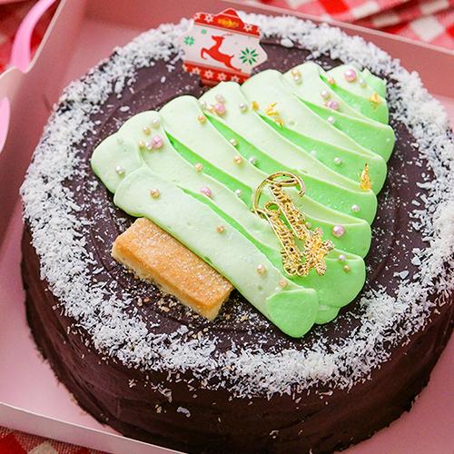 6吋★免運【多茄米拉★聖誕精靈樹】聖誕蛋糕一起來許願吧/今年最流行的超人氣漸層色/繽紛聖誕party首選/網購最想收到的夢幻緞帶禮盒/聖誕節就用它來擄獲你們的心吧!|聖誕蛋糕推薦