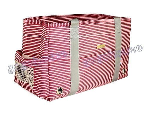 ☆狗狗之家☆東洋風紅白條紋寵物側背/手提袋