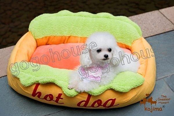 ☆狗狗之家☆日本KOJIMA熱狗造型寵物專用沙發床/窩