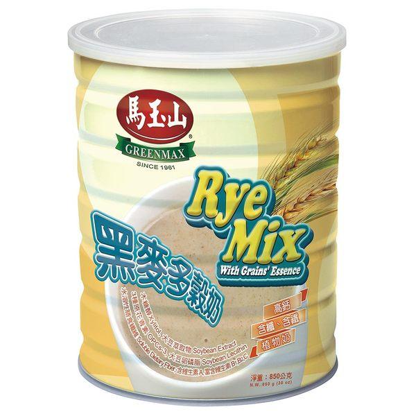【馬玉山】黑麥多榖奶850g★高鈣、含纖、含鐵植物奶,無乳製品成分