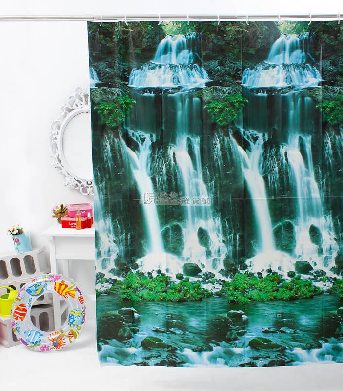 《喨晶晶生活工坊》MIT台製 PEVA 防水浴簾˙隔間簾、乾溼分離↘$120元、180*180、E1028