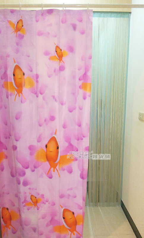 《喨晶晶生活工坊》MIT台製PEVA 防水浴簾˙隔間簾、乾溼分離、E1041 180*180 附掛勾