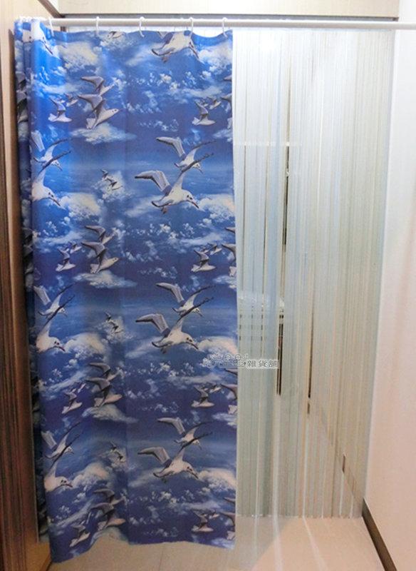《喨晶晶生活工坊》MIT台製 PEVA 防水浴簾˙隔間簾、乾溼分離↘$120元、M001-3 180*180、附掛勾