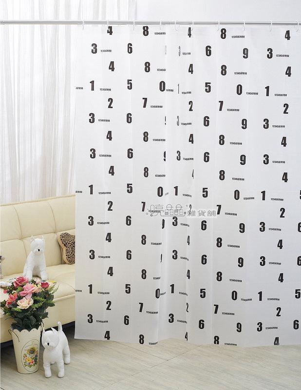 《喨晶晶生活工坊》MIT台製 PEVA 防水浴簾˙隔間簾、乾溼分離↘$150元、1F006-2 180*200、附掛勾