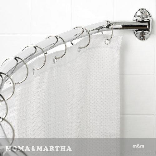 《喨晶晶生活工坊》m&m 默瑪 圓環型O型不鏽鋼金屬浴簾掛鉤 可用加粗杆上 12個/盒
