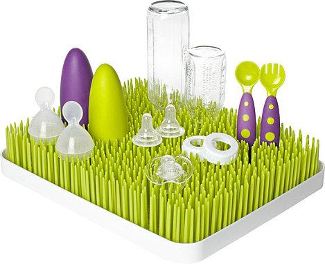 奶瓶餐具架-Baby Joy World-【美國boon】 大型GRASS 奶瓶餐具草皮晾乾架 (大)