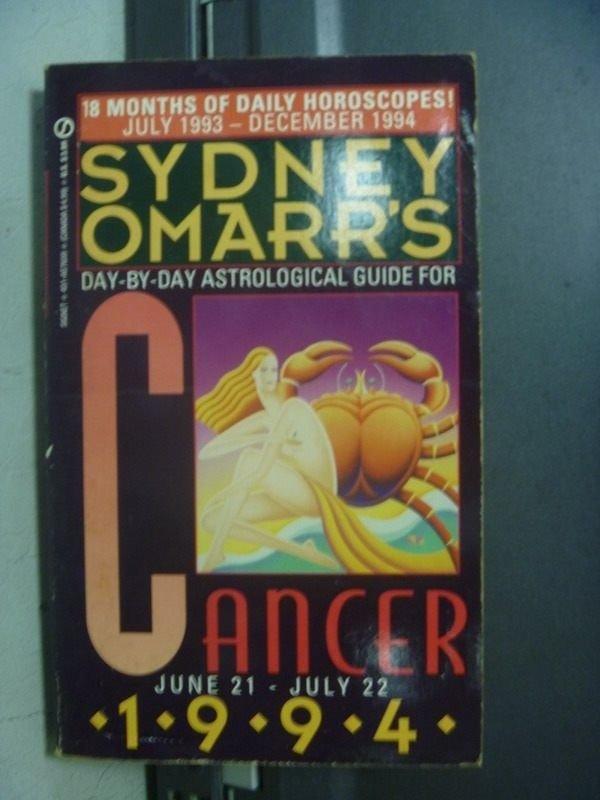 【書寶二手書T4/星相_OPG】Sydney Omarrs_Cancer 1994/6.21~7.22