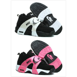 耐克/NIKE AIR VEER GS 權志龍同款 黑白騷紅 男生女生籃球鞋 情侶休閒鞋(36-44)