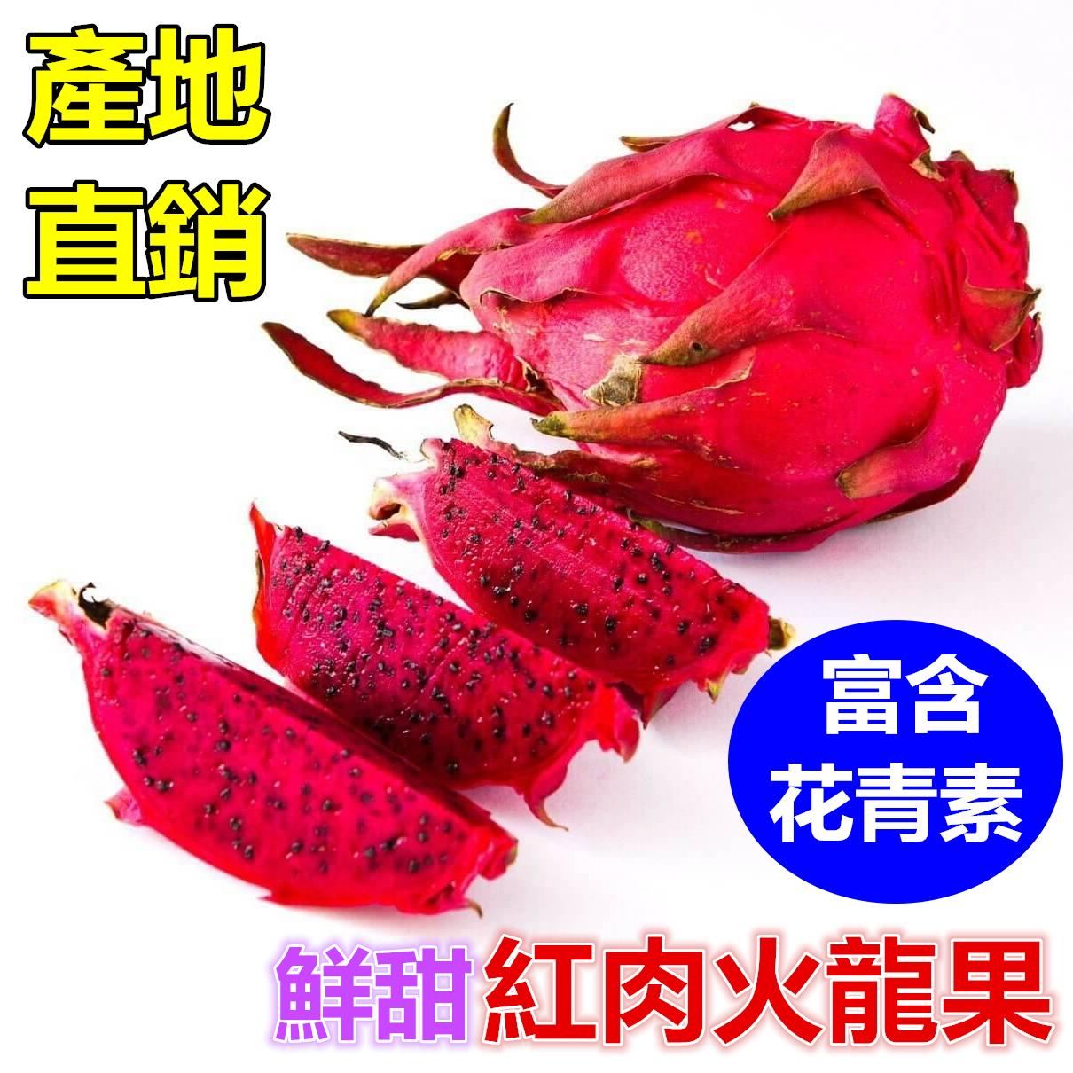 紅肉火龍果-鮮甜富含花青素抗老護目無農藥檢出【屏東產地直銷】