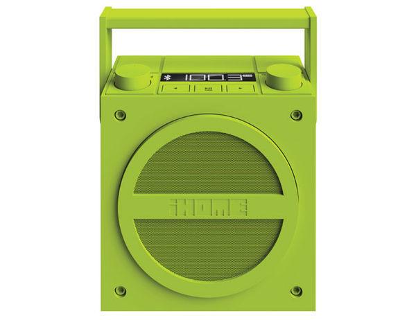 [NOVA成功3C] iHome iBT4 藍牙無線可充電內置揚聲器 復古 FM收音機 內建充電電池(螢光綠)喔!看呢來