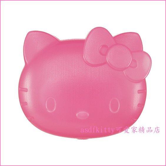 asdfkitty可愛家☆KITTY臉型粉紅硬式保冷劑/保冰劑-不溶化冰塊-日本正版商品