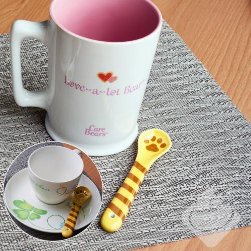 日本[Decole]貓咪肉球陶器湯匙(虎斑貓)造型湯匙/餐桌小物/可愛貓咪/療癒小物/肉球╭。☆║.Omo Omo go物趣.║☆。╮