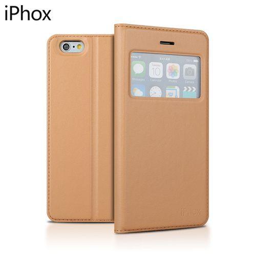 ☆蘋果iPhone6 4.7吋 Iphox艾福克斯隱形磁鐵自吸系列開窗皮套iPhone 6 矽膠軟殼商務手機套【清倉】