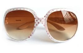 Kocotree◆時尚可愛點點俏麗豹紋兒童太陽眼鏡-白色(點點款)