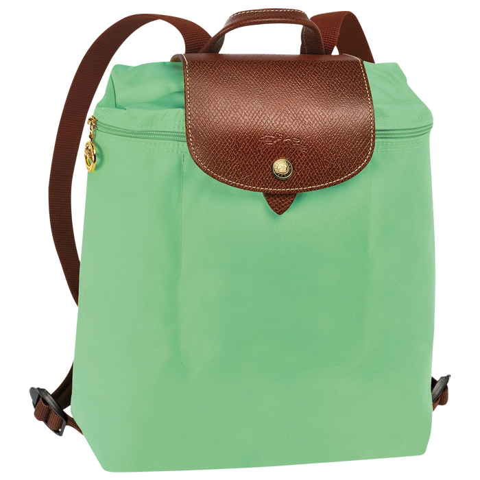 《十九號二手屋》全新法國 LONGCHAMP 摺疊款拉鍊 嫩綠色(MINT) 後背包(內有多色顏色選擇)