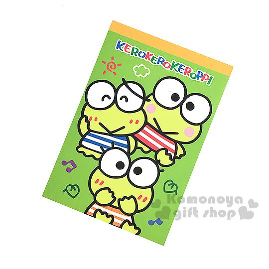 〔小禮堂〕大眼蛙 迷你便條本《綠.多動作.太陽.音符》