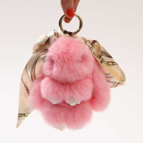 【橘子包舖A0477】韓國包包.絨毛掛件.鑰匙扣.裝死兔.裝睡兔.萌萌兔