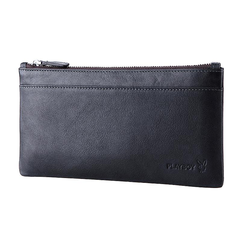 PLAYBOY 男士超薄真皮錢包 [A13-006B]  黑色手機包