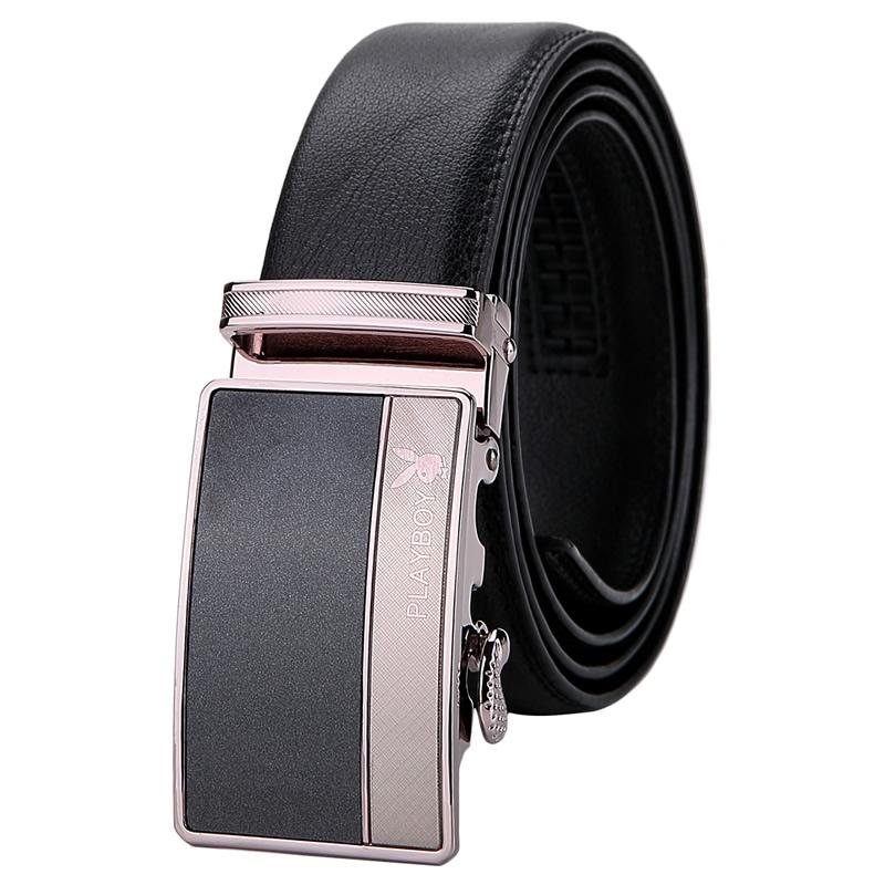 【橘子包舖P461361】PLAYBOY自動扣皮帶.真皮腰帶.牛皮-黑色