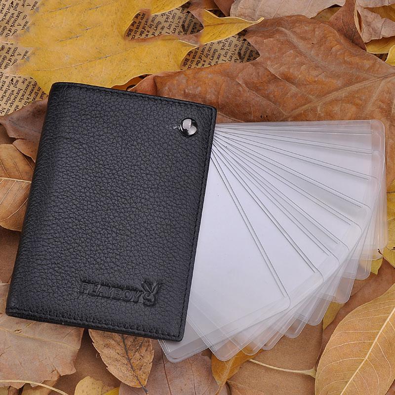 【橘子包舖A13-011】PLAYBOY.真皮卡夾.可放信用卡、會員卡.10卡位