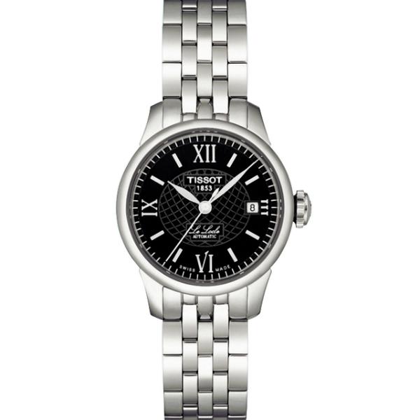 TISSOT天梭T41118353 力洛克經典羅馬機械腕錶/黑面25.3mm