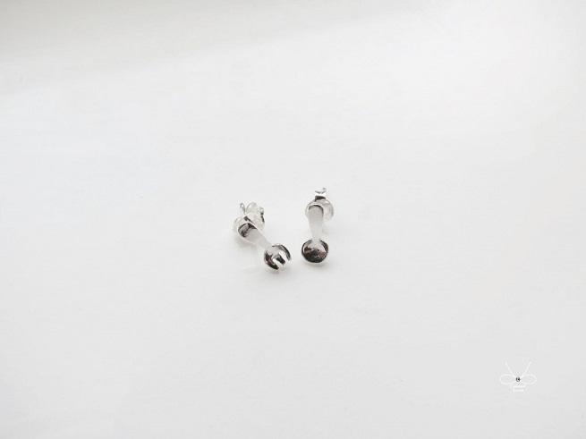 ::C%手工飾品::小小湯匙與叉子 (925純銀耳環 銀飾)