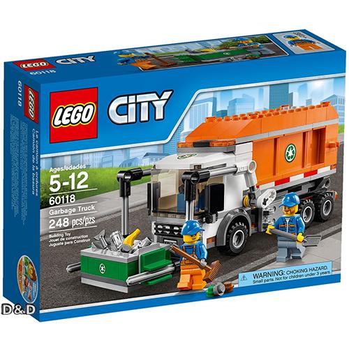 樂高積木LEGO《 LT60118 》2016 年 CITY 城市系列 - 垃圾車