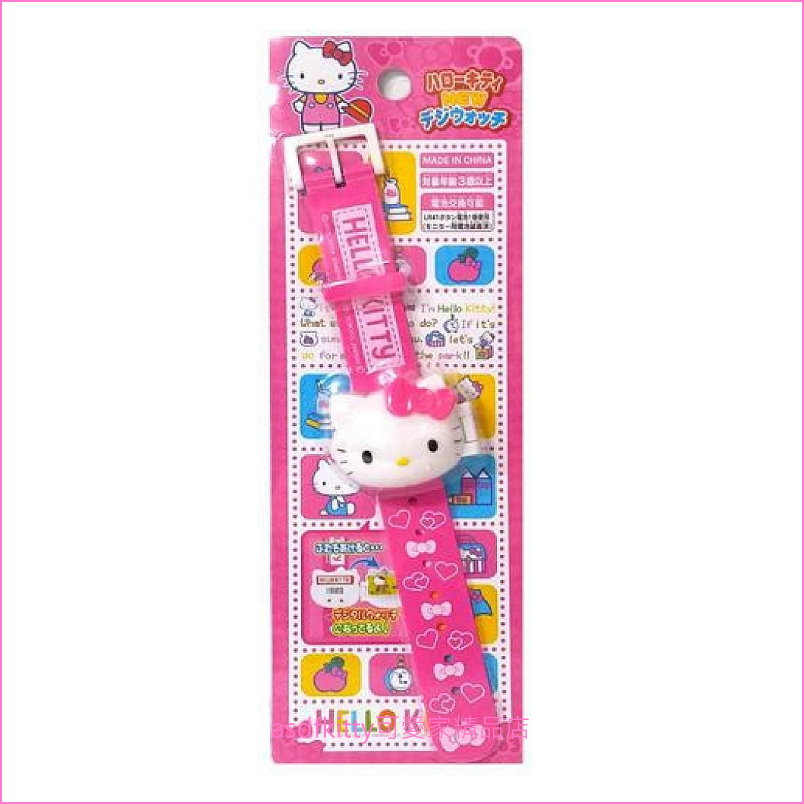 asdfkitty可愛家☆KITTY兒童手錶/電子錶-日本版正版商品