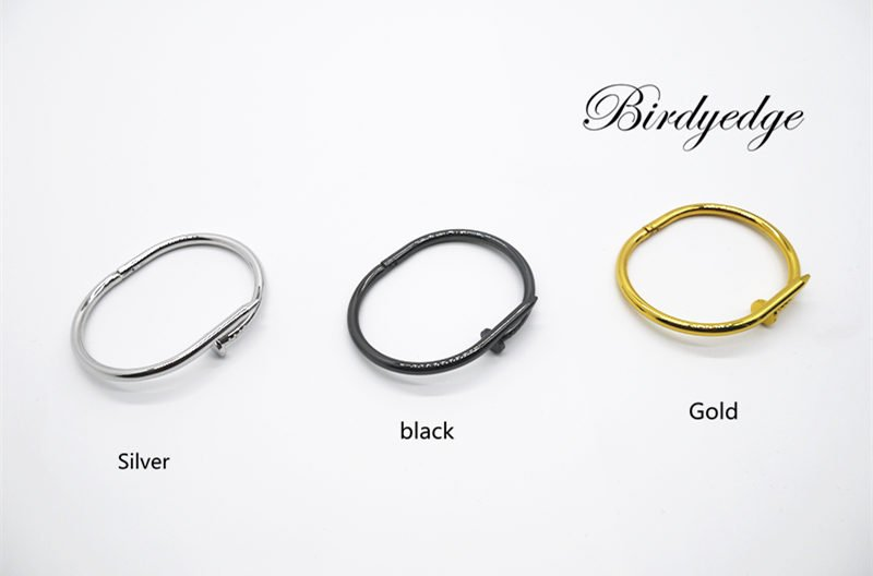 【Birdy Edge】釘子設計 手環 鋼 材料 保色款 非合金爛貨 一買來帶沒幾天 就退色