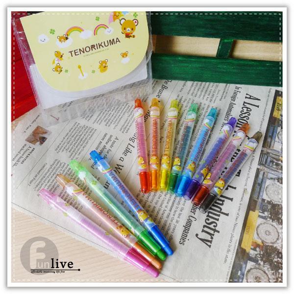 【aife life】三麗鷗12色旋轉蠟筆/彩虹筆/蜡筆/塗鴉/重點筆/色鉛筆/彩色筆/正版授權/繪圖 畫畫用具
