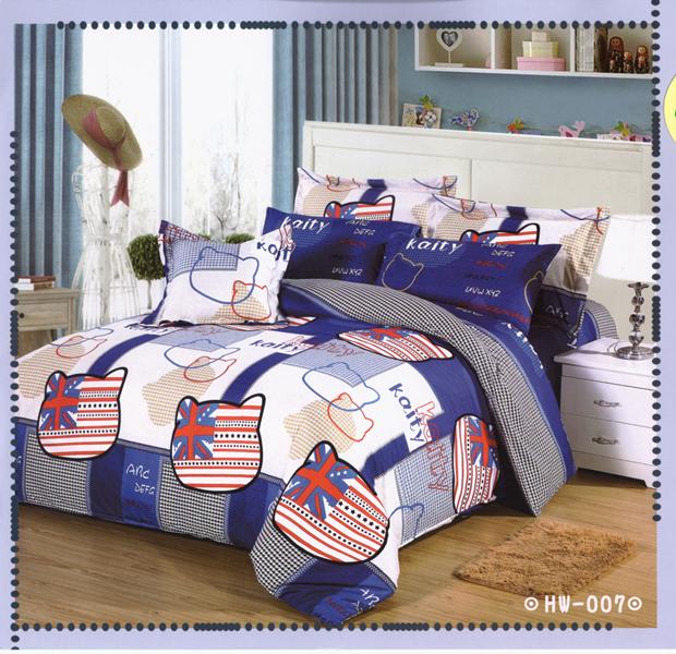 ✧臺灣製✧舒柔棉磨毛超細纖維床包組《HW-007》5X6.2尺雙人床包組+兩用被 四件組◤彩虹森林◥