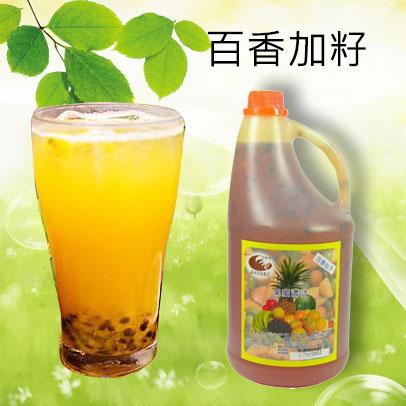 濃縮果汁批發-百香果汁內含百香籽--【良鎂吧檯原物料商】