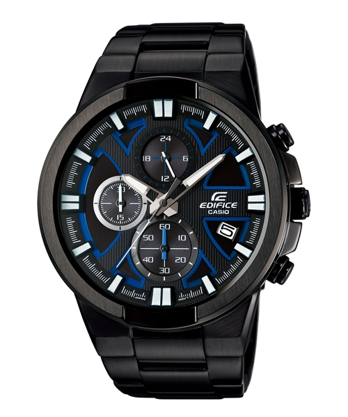 CASIO EDIFICE EFR-544BK-1A2極黑競速三環時尚腕錶/黑面48mm