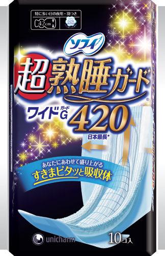 蘇菲 彈力貼身 超熟睡 夜用 42cm (10片/包)