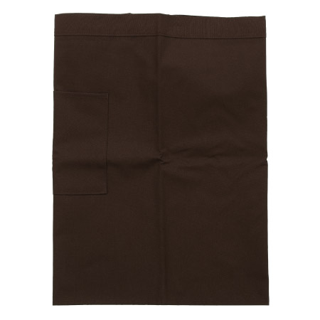 防污圍裙-半身短 咖