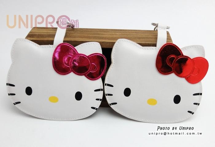 【UNIPRO】Hello Kitty 凱蒂貓 頭型卡套 悠遊卡識別證件套 頭形皮質吊牌 三麗鷗正版授權 KT