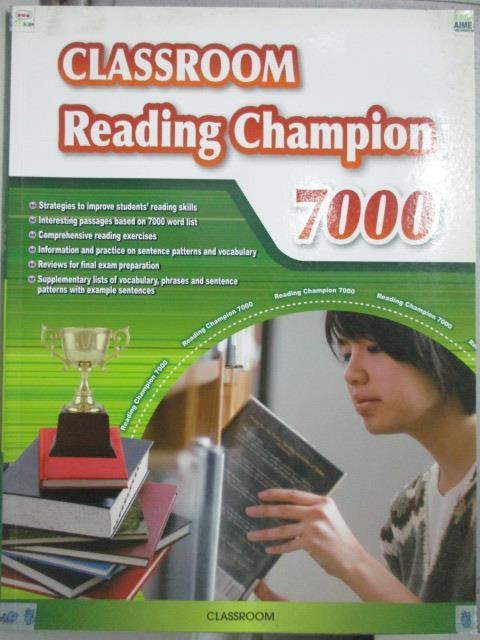 【書寶二手書T1/語言學習_ZJX】Classroom Rrading Champion 7000_Matt Werth