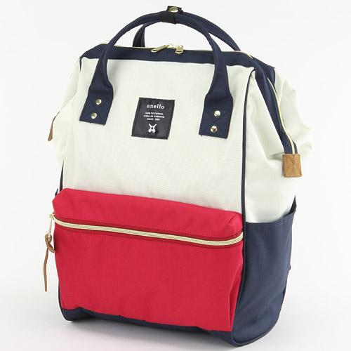 anello後背包-紅白法國款/日本原裝進口