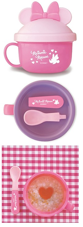 日本 Disney 迪士尼 米妮 餐具杯/零食碗 附湯匙 *夏日微風*