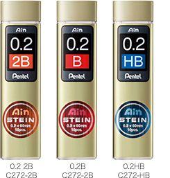 Pentel 飛龍牌Ain STEIN C272 鉛筆芯0.2mm (10支入)