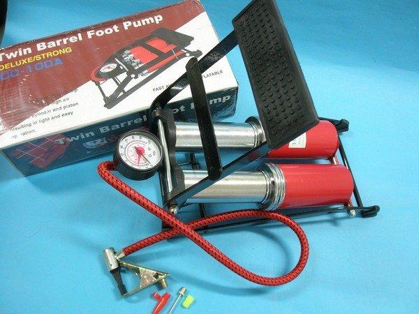 腳踏式雙管打氣筒 CC-100A 自行車籃球多用途打氣機/一個入{定300}