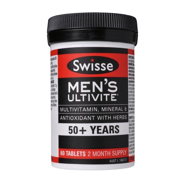 *預購* SWISSE  50歲以上男性綜合維他命~ 60顆(2個月份)