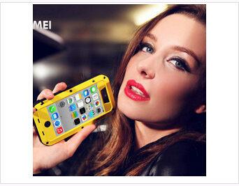 ☆蘋果 iPhone 5C Love mei 三防直邊金屬殼 Apple 5c 防水/防摔/防刮手機保護殼【清倉特賣】