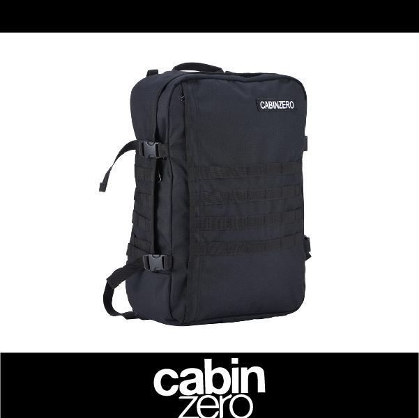 【買就送隨身腰包】CABIN ZERO 161-CZ091401 橫條 輕量44L後背包 登機 假期 公事 手提 軍事版 可上密碼鎖 國際背包身分證 黑色 萬特戶外運動