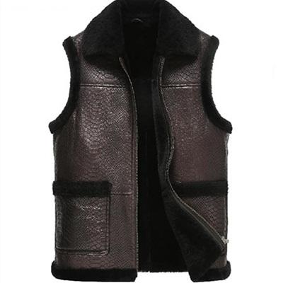 真皮背心 皮馬甲-時尚保暖加厚成熟男外套2色72r9【獨家進口】【米蘭精品】