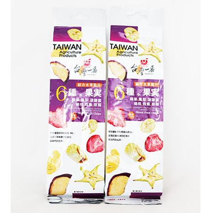 [敵富朗超市]台灣一番綜合水果脆片(70g)