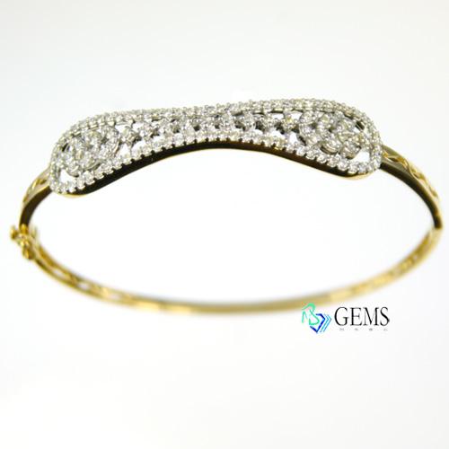 天然白淨真鑽 粒線體 18K金扣式細緻手環 Radiant Gems閃亮寶石