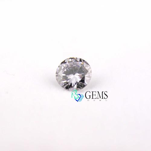 淡彩灰藍鑽石 0.25克拉 GIA彩鑽 圓形明亮車工高淨度火彩美 Radiant Gems閃亮寶石